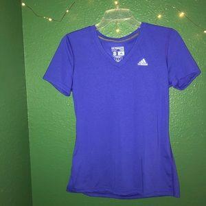 Adidas blue v-neck top (new w/o tags)
